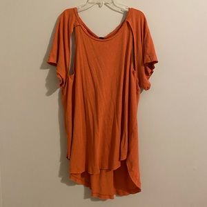 Free People Cut-Out Tee